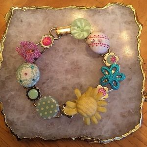 Bracelet with Country Patchwork Charm!